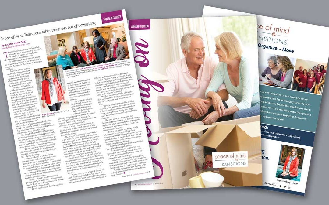 Peace of Mind Transitions Featured In Northside Women's Magazine