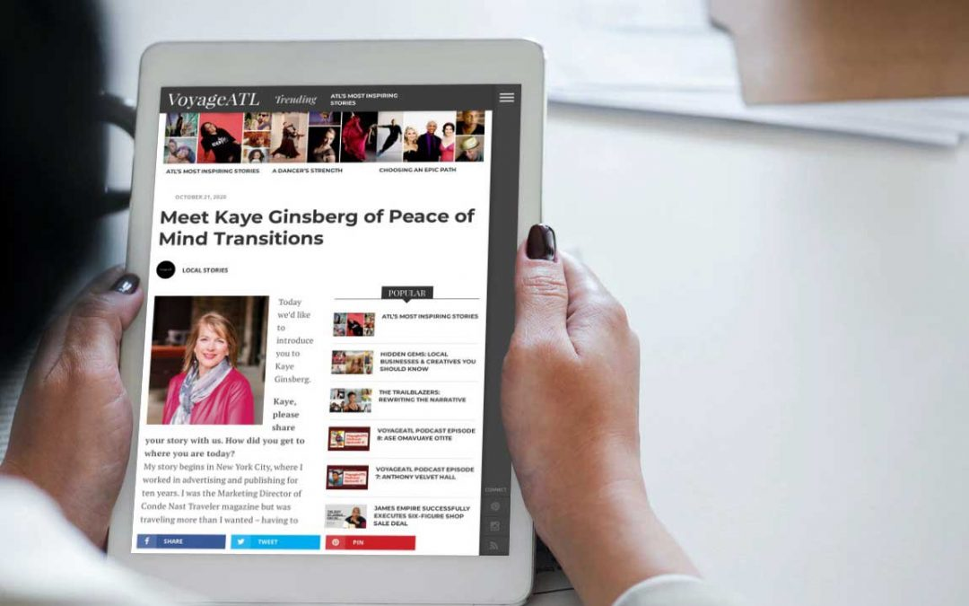 The VoyageATL Interviews Peace of Mind Transitions Founder Kaye Ginsberg